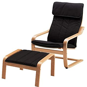 Lovely Ikea Poang Chair Armchair And Footstool Set With Covers (Machine Washable)