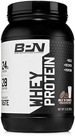 Bare Performance Nutrition, Whey Protein Powder, Milk N' Cookies, 2 Pound