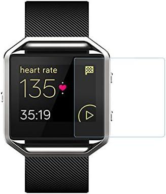 Protector de pantalla de cristal templado para reloj inteligente Fitbit Blaze, dureza 2.5D 9H, 0,3 mm, cobertura completa, HD, transparente, antiarañazos, ...