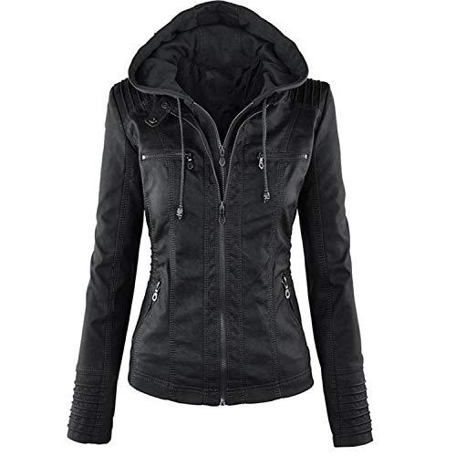 Coated Biker Style Jacket - Everley Austin Plue Size 7XL Leather Jacket Women Outerwear Coat Lady PU Leather Clothing FEMA