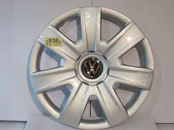 """VW Volkswagen Polo 5, 14 """"wheeltrim, borde de la rueda Hub Tapa"""