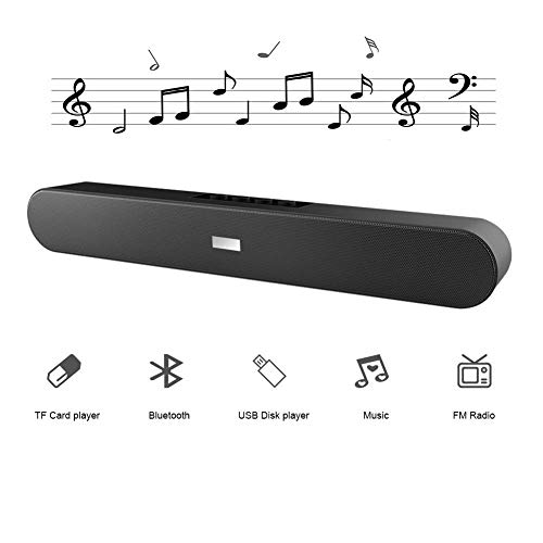 JS-GXJ Bluetooth Sound Bar speaker, Wired and Wireless Home Theater Audio for Cell Phone/Home/Projector/TV/ FM mode/ outdoors (No Remote)