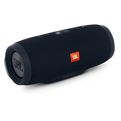 JBL Charge 3 JBLCHARGE3BLKAM Waterproof Portable Bluetooth Speaker - Mall Hours Crystal