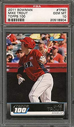 Amazoncom 2011 Bowman Topps 100tp90 Mike Trout Los