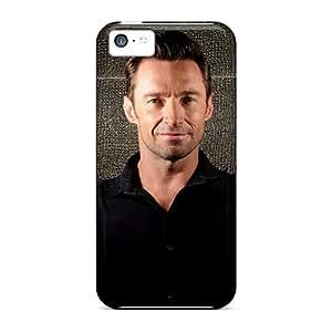 Iphone 5c JZI497cXeB Celebrities Hugh Jackman Tpu Silicone Gel Case Cover. Fits Iphone 5c