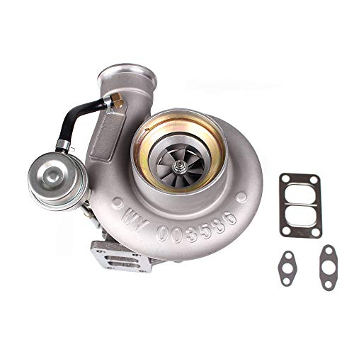 (Diesel Turbocharger HX35 HX35W Turbo Charger with Internal Wastegate Turbine Fit for 99 to 02 Dodge Ram 2500 3500 5.9L Truck 6BT Cummins Engine (HX35/HX35W 3592766))