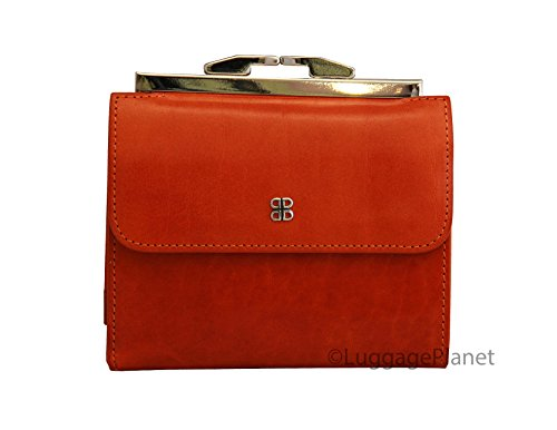 """Bosca Womens Old Leather 4"""" Framed French Purse Wallet (O..."""