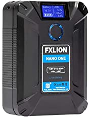 SONGING FXLION Nano ONE V Mount/V-Lock Battery 3400mAh(50Wh/14.8V) with D-TAP,USB-C,USB-A, Micro USB Plugs,10oz Mini for Cameras, Camcorders, LED Lights, Monitors, MacBook and Smartphone