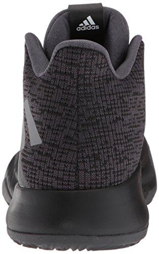 Adidas Man Mad Felmeddelande Basketsko Utility Svart / Kärna Svart / Grå
