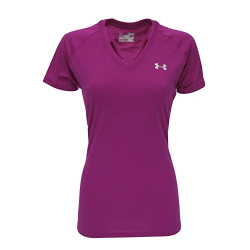 Golf Womens V-neck (Under Armour Women's UA Tech V-Neck T-Shirt Boysenberry/Steel M)