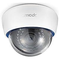 Zmodo Surveillance ZP-IDR13-PA 720P HD PoE IP Network Dome Camera with Audio Retailzm