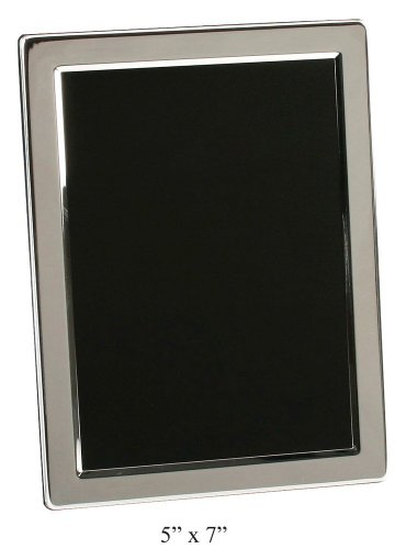 "Silver Plated Contemporary 5"" x 7"" Photo Frame By Haysom Interiors"
