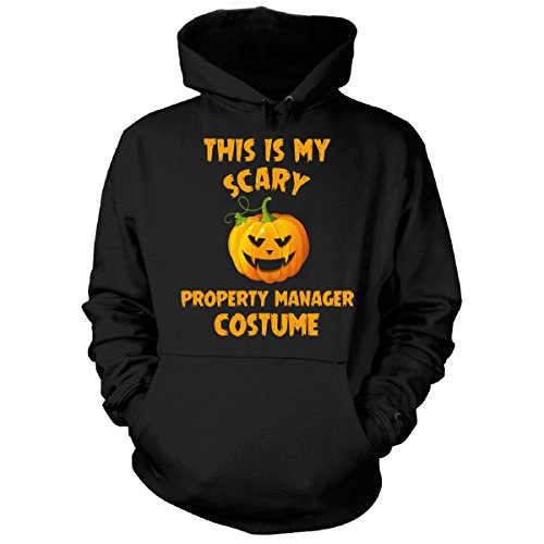 This Is My Scary Property Manager Costume Halloween Gift - Hoodie Black (Property Brothers Halloween Costumes)