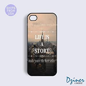 iPhone 5 5s Case - LIfe Is A Story Quote iPhone Cover