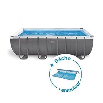 piscine tubulaire ultra silver rectangulaire 5 49 x 2 74 x 1 32 m - intex