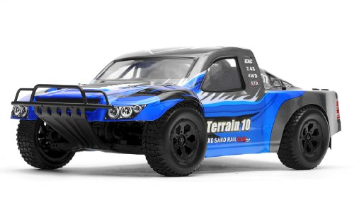 Exceed Racing Terrain 1/10 Scale Short Course Truck Ready to Run 2.4ghz (AA Blue)