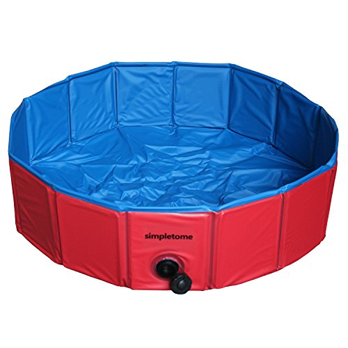 simpletome Pet Swimming Pool Foldable Bathing Tub for Dogs Cats Rabbit (31.5 x 7.84 inch, ()
