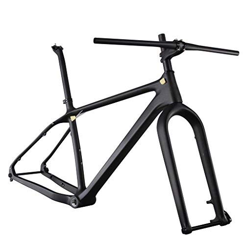 ICAN 26er Carbon Fat Tire Bike Frame Set 18 Inch BSA 197 x 12mm Rear 150 x 15mm Fork Spacing