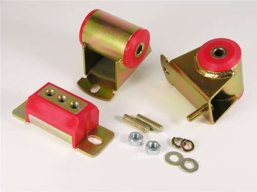 (Prothane 1-1906 Red Motor and Transmission Mount Kit for YJ)