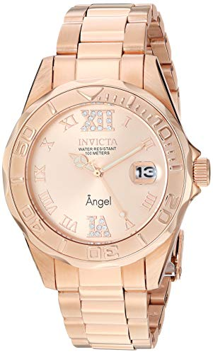 Invicta Women's 14398 Angel Analog Swiss-Quartz Rose Gold ()