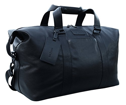belarno-b104-leather-duffel-bag-18inch-long-black