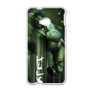 HTC One M7 Cell Phone Case White Hulk is Ready LSO7902629