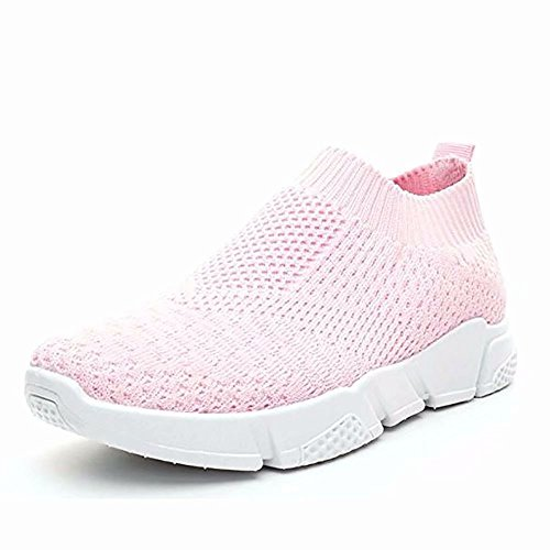Wonvatu Walking Shoes for Women Lightweight Athletic Slip-On Running Shoes Fashion Sneakers Sports Shoes Pink