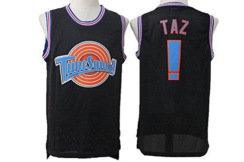 Taz Mens Tune Squad #! Basketball Black Mesh Space Jam Movie Jersey XL