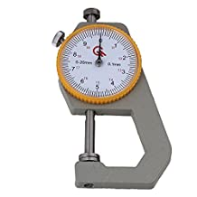 BQLZR Sheet Metal Leather 0 to 20mm Plate Dial Thickness Gauge 0.1mm Precision
