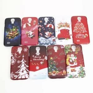 Christmas Series Plastic Protective Case with Red Christmas Shoes Pattern for Samsung S4/i9500