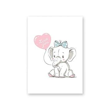Hao Lala-guahua Schönes Tier Poster Niedlichen Elefanten ...