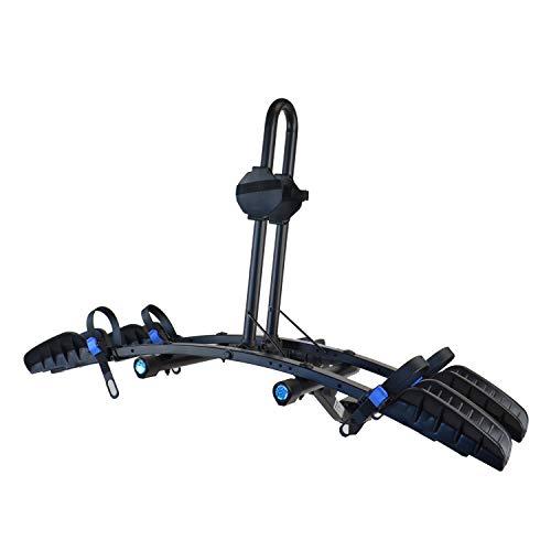 Heininger Black 2035 Advantage SportsRack FlatRack 2 Bike Platform Hitch Mounted Rack (Fits 1.25″ and 2″)