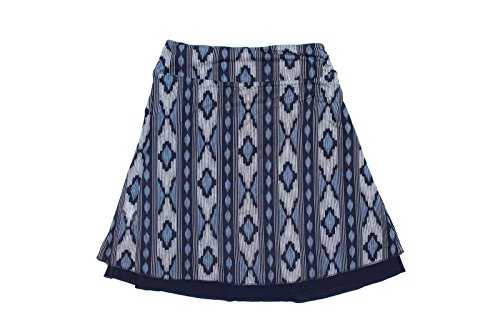Colorado Company Women's Reversible Tranquility Skirt (Navy Ikat, Small) (Skirt Stretch Reversible)