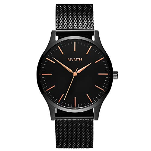 MVMT 40 Series Watches | 40 MM Men's Analog Watch | Black Rose Mesh
