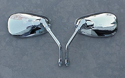 i5 Chrome Cruiser Mirrors to fit Yamaha Handlebar Mount