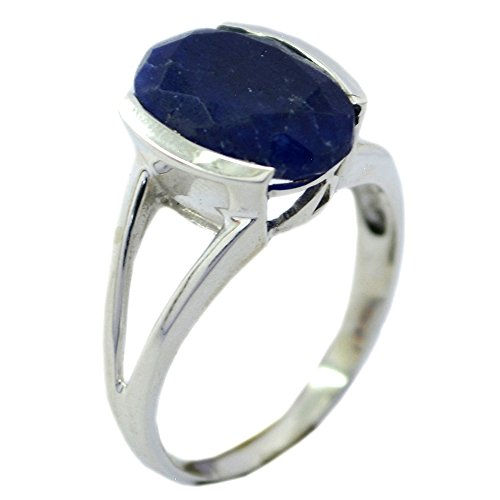 (55Carat Natural Lapis Lazuli Sterling Silver Ring for Women Oval Shape Split Shank Size 5,6,7,8,9,10,11,12)