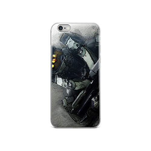 iPhone 6/6s Case Anti-Scratch Gamer Video Game Transparent Cases Cover Master Chief Gaming Computer Crystal Clear