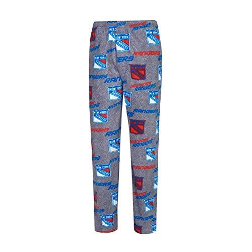 Concept Fleece - Concept Sport New York Rangers Adult Achieve Fleece Pajama Pants - Gray, Large