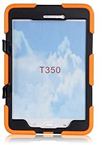 Shockproof Military Armor Case Stand Cover For Samsung Galaxy Tab 8.0 T350 Orange Color
