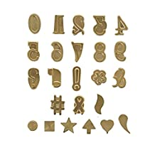 Walnut Hollow Hot Stamps Number and Symbol Set, 24-Piece