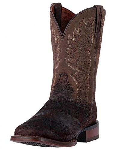 Dan Post Men's Cade Chocolate Cowboy Boot Square Toe Chocolate 8 D(M) (11' Mens Stockman Boot)