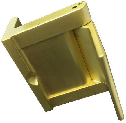 Pemko PDL Privacy Door Latch, Satin Brass Finish- Security for In-Swinging Doors , 1-1/2