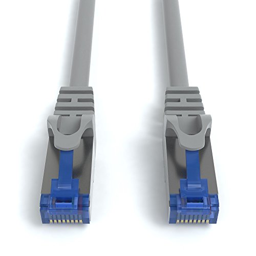 AmazonBasics RJ45 Cat7 Network Ethernet Patch Internet Cable - 10 Feet, 10-Pack ()