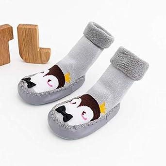 5 Pairs Socks Toddler Kids School Novelty Cotton with Grips Crew Socks Pentagram Pattern Christmas Unisex Girls and Boys Multipack Socks 1-9 Years