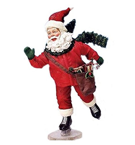 2008 Kurt Adler Fabriche *Santa Slide* Santa ICE Skates
