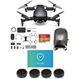 DJI MAVIC Air Combo Onyx Black - Bundle 64GB Micro SDXC U3 Card, Hard Case Backpack, FS62 Mavic Air Multi-coated 4K Camnra Lens Filters 4-Pack, Care Refresh Mavic Air