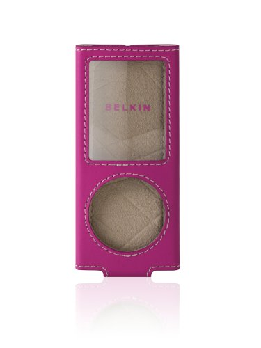 Nano Sleeve 4g Leather (Belkin Leather Sleeve Case for iPod nano 4G (Pink))