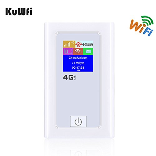 KuWFi 5200mAH electricity bank 4G LTE WIFI Router