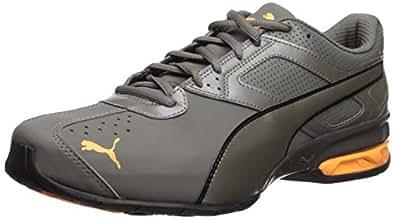 PUMA Men's Tazon 6 FM Sneaker Charcoal Gray-Orange pop 7 M US