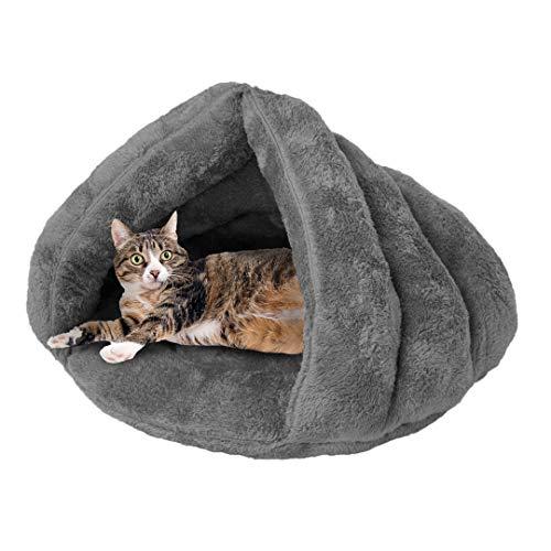 Soft Fleece Self-Warming Cat Bed Warm Sleeping Bed